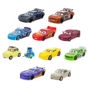 Disney Store Cars Deluxe Figure Play Set Cake Topper Playset 11 Pieces New