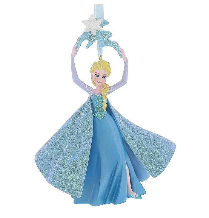 disney parks frozen glitter queen of ice elsa ornament new with tag
