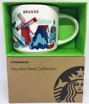 Starbucks You Are Here Collection Belgium Brugge Ceramic Coffee Mug New W Box