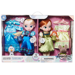 Disney Animators' Collection Anna and Elsa Singing Dolls Deluxe Gift Set New Box