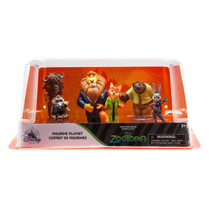 Disney Store Zootopia Figure Play Set Playset Cake Topper Judy Hopps Nick Wilde