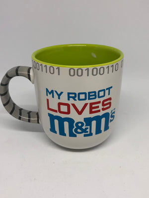 M&M's World My Robot Loves M&m's Ceramic Coffee Mug New