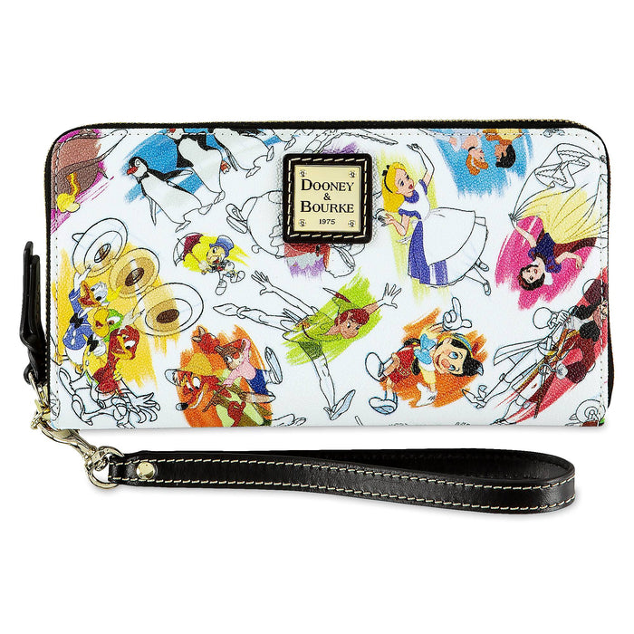 Disney Parks Ink & Paint Wallet by Dooney & Bourke New with Tag