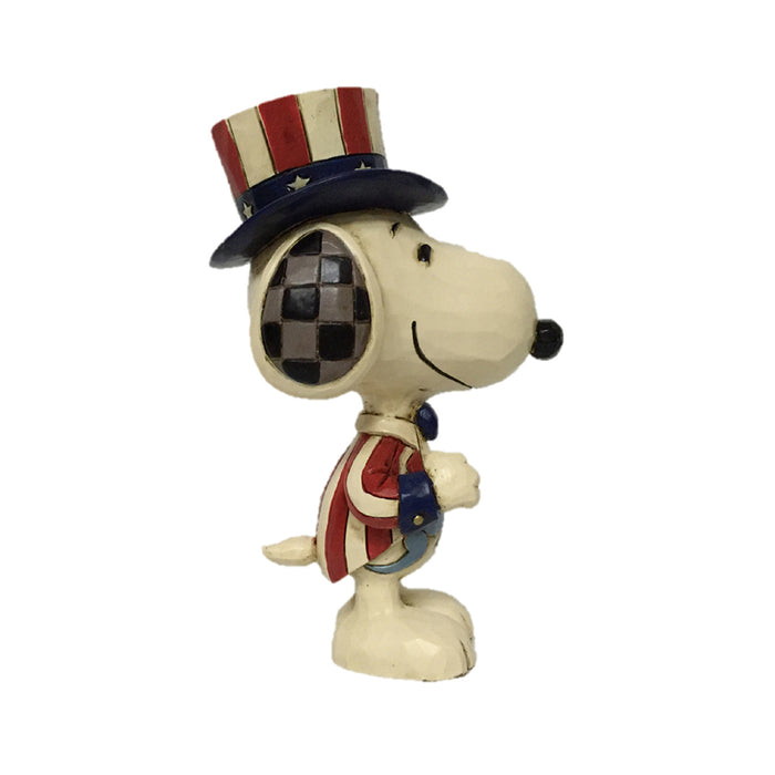 Jim Shore Peanuts Mini Snoopy Patriotic Figurine New with Box