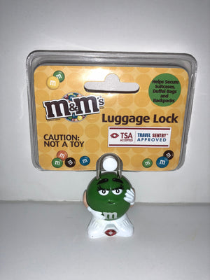 M&M's World Character Green Luggage Lock TSA Accepted New Sealed