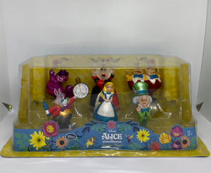 Disney Alice in Wonderland Figure Play Set Cake Topper New with Box