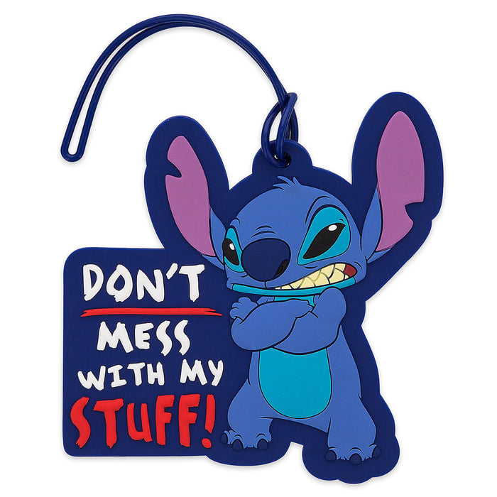 Disney Parks Stitch Don't Mess with My Stuff Luggage Tag New with Tag