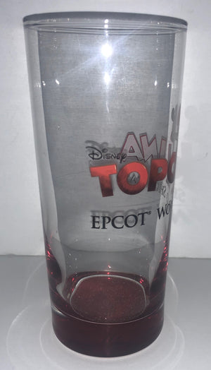 Disney Parks Epcot Italy Topolina Tall Glass New