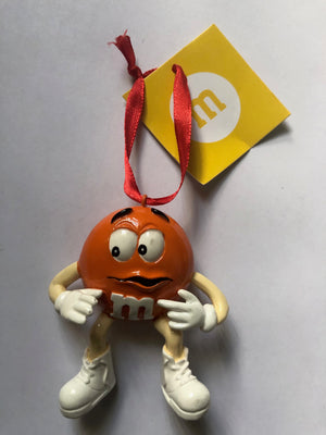 M&M's World Orange Character Resin Christmas Ornament New with Tag