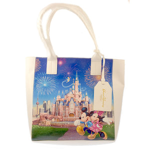 Disney Parks Shanghai Grand Opening Mickey and Minnie Tote Bag New with Tags