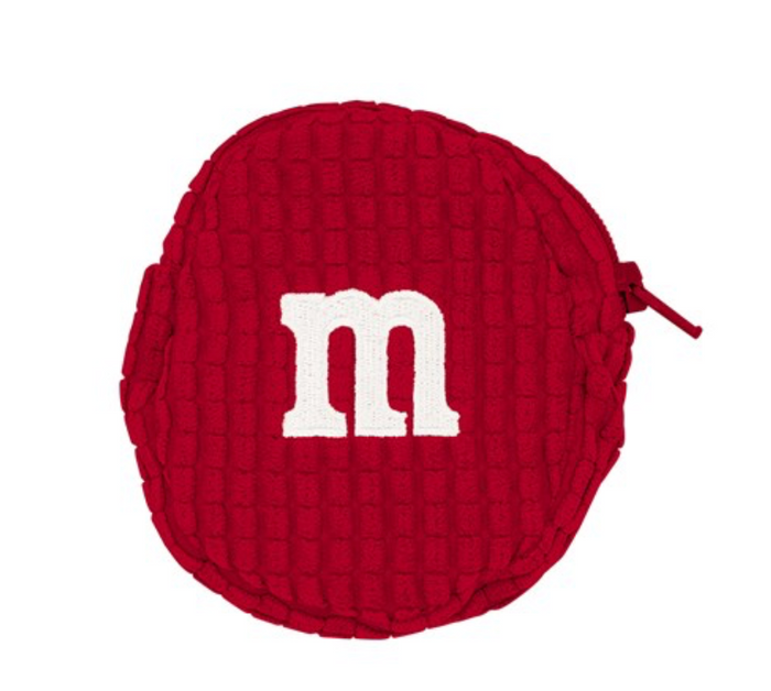 M&M's World Red Logo Coin Purse Plush New with Tags