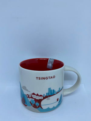 Starbucks You Are Here Collection Tsingtao China Ceramic Coffee Mug New With Box