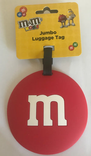 M&M's World Red Logo Jumbo Luggage Tag New with Tag