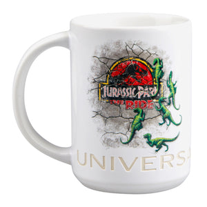 universal studios jurassic park the ride attraction ceramic coffee mug new