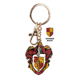 Universal Studios Harry Potter Gryffindor Crest Spinning Keychain New with Tags