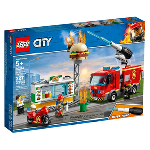 Lego 60214 City Burger Bar Fire Rescue Building Set New with Sealed Box