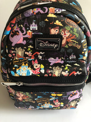 Disney Parks Mickey and Friends Figment Mini Backpack Passholder New with Tags