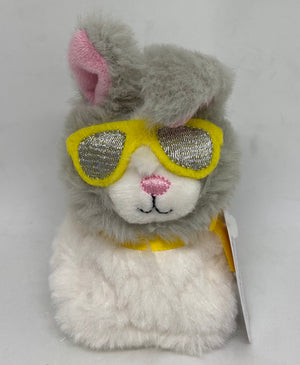 Hallmark Easter Bunny with Sunglasses Zip A Long Plush New with Tag