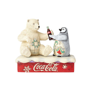 Coca Cola Penguin & Polar Bear Coke Figurine by Jim Shore New with Box