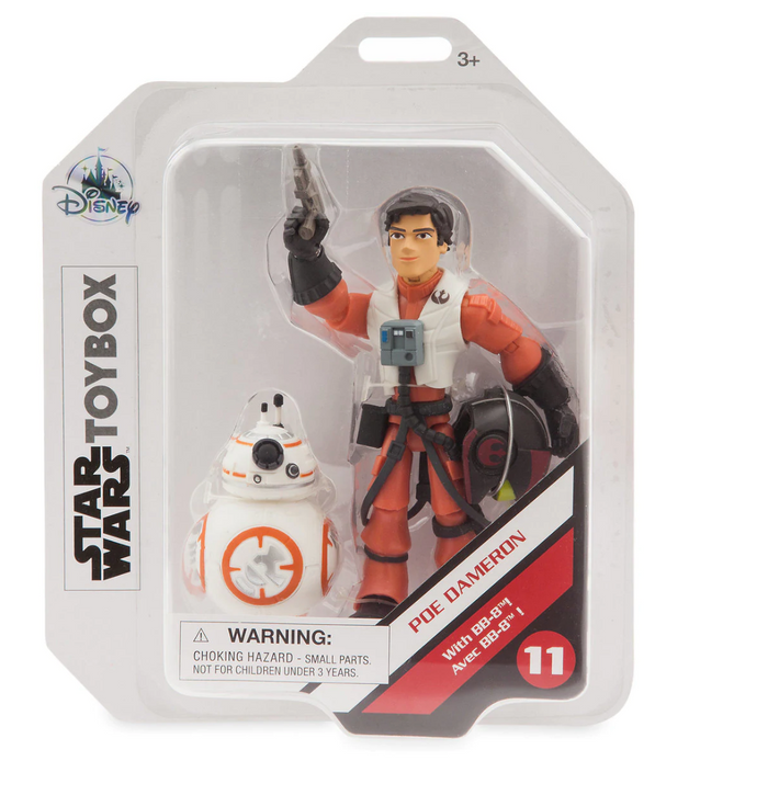 Disney Star Wars Action Poe Dameron with BB-8 Figure Toybox New with Box