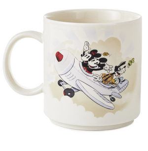 Hallmark Disney Mickey and Friends Airplane Life is an Adventure Coffee Mug New