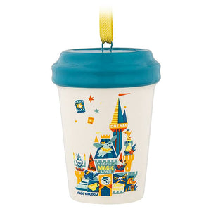 Disney Parks Starbucks Been There Magic Kingdom Tumbler Ornament New with Tag