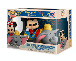 Disney 65th Disneyland Dumbo the Flying Elephant Attraction Funko Figure New