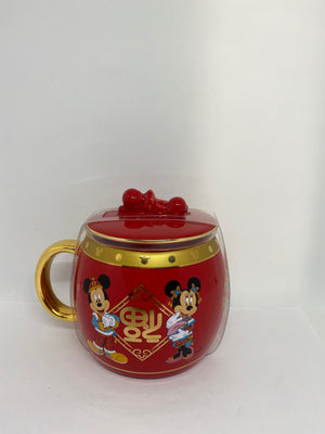 Disney Parks Mickey Minnie Chip ' n Dale Lunar New Year 2020 Mug New