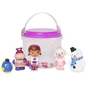 Disney Store Doc McStuffins Bath Set Dottie Hallie Chilly Lambie Squeakers New
