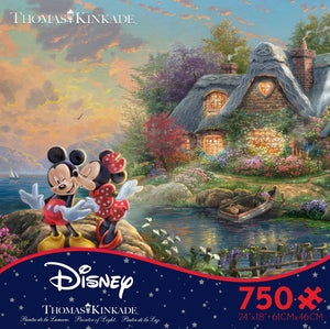 Disney Mickey & Minnie Sweetheart Cove 750 Puzzle Ceaco New with Box
