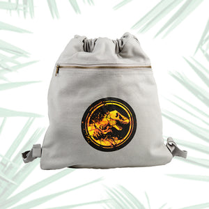 Universal Studios Jurassic World Cotton Drawstring Backpack New with Tags