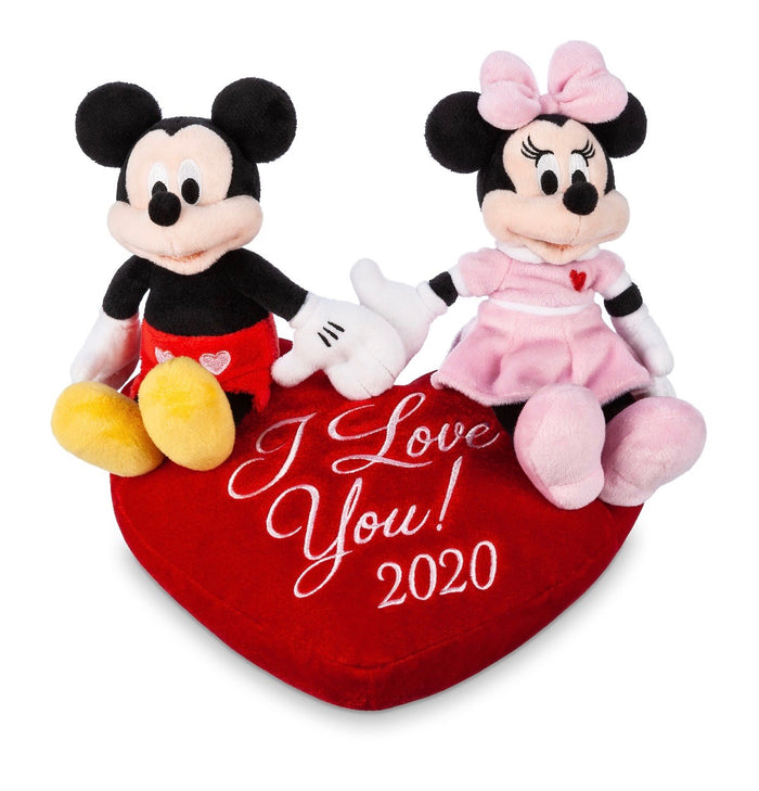 Disney Parks Valentine 2020 Mickey And Minnie I Love You Plush New with Tag