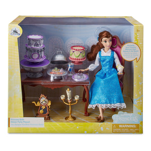 Disney Belle Classic Doll Dinner Party Play Set Beauty and the Beast Playset