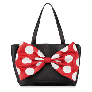Disney Parks Minnie Mouse Signature Satchel by Loungefly New