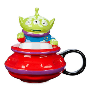 Disney Parks Toy Story Alien UFO Figural Mug with Lid New
