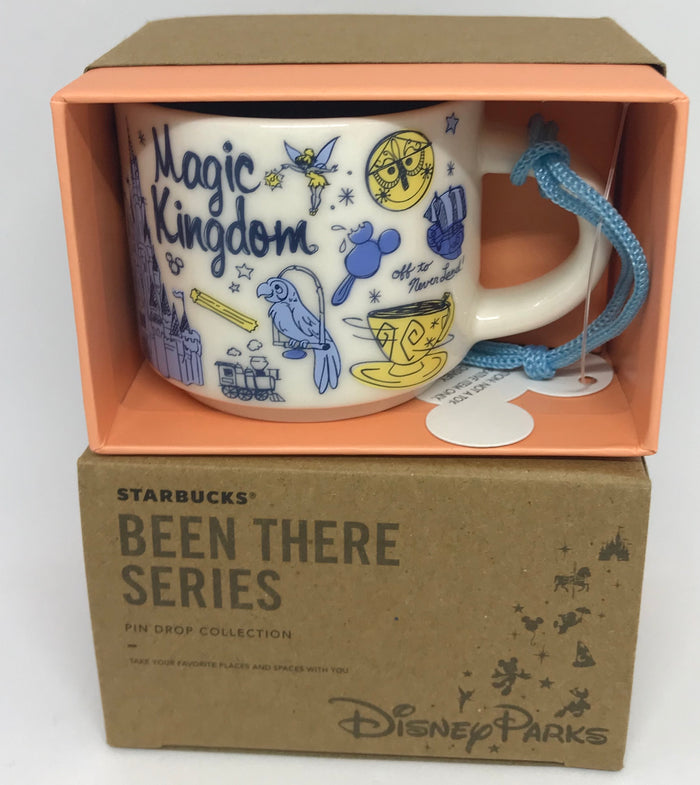 Disney Parks Starbucks Been There Magic Kingdom Coffee Mug Ornament New with Box