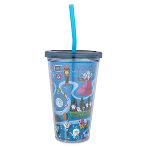Disney Parks The Haunted Mansion Tumbler with Straw New