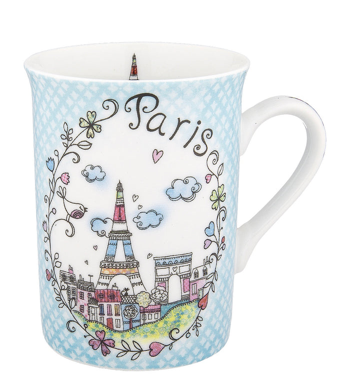 Disney Parks Epcot Paris Clouds Porcelain Coffee Mug New