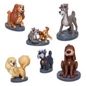Disney Lady and the Tramp Figurine Play Set New with Box