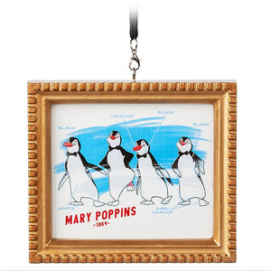 Disney Parks 2020 Ink & Paint Mary Poppins 1964 Canvass Framed Ornament New