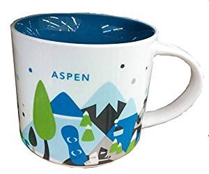 Starbucks You Are Here Collection Aspen Colorado Ceramic Coffee Mug New