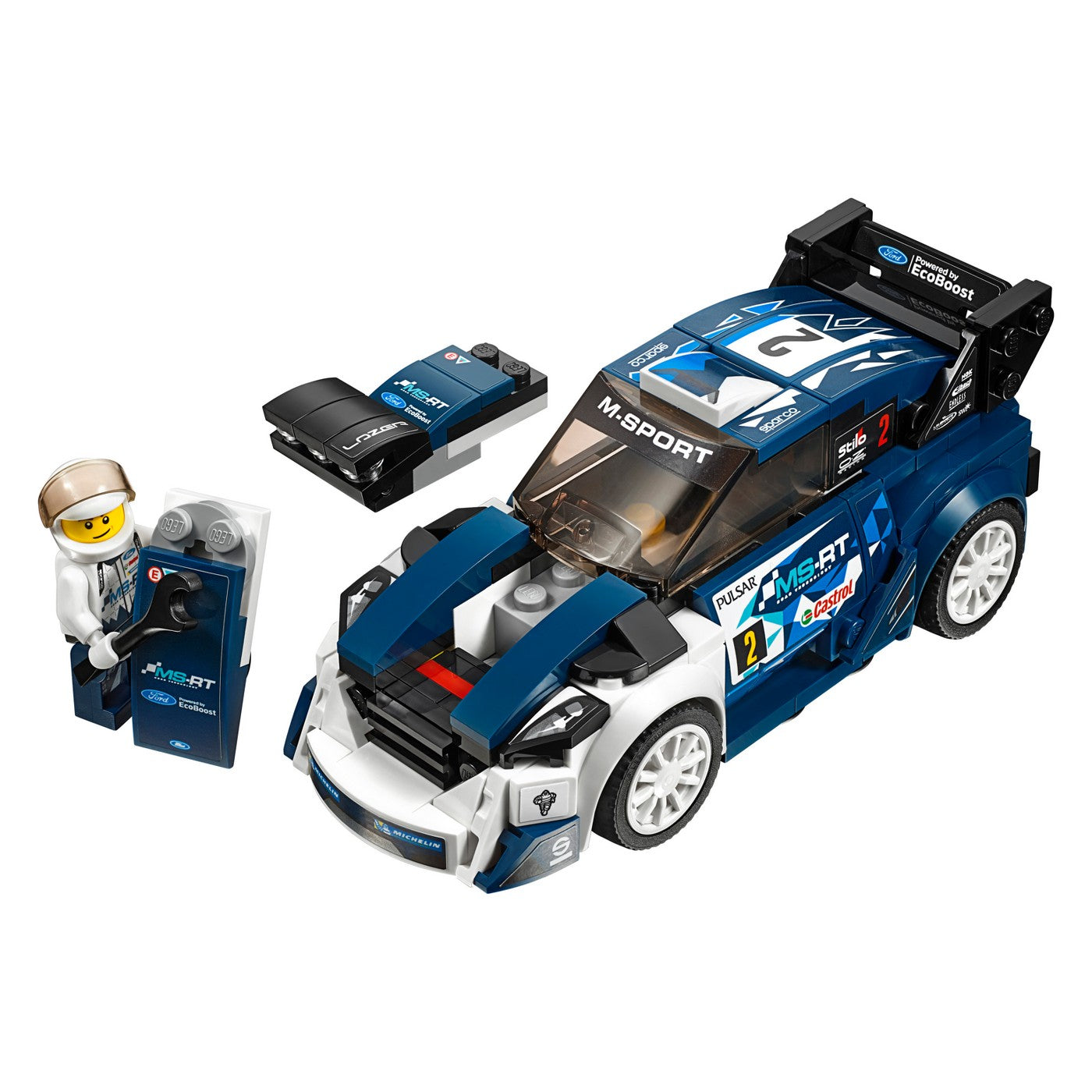 LEGO-75885-Speed Champions Ford Fiesta M-Sport WRC-New in Sealed Box!