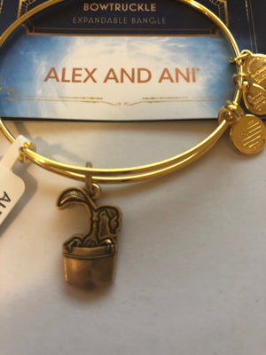 Alex Ani Fantastic Beasts Bowtruckle Charm Bangle Two Tone Finish New with Tags