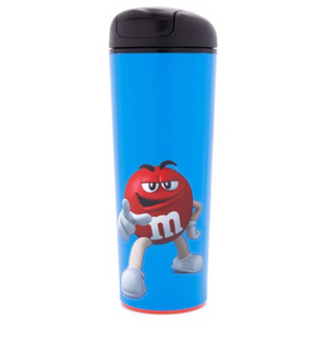 M&M's World Red Character Neverfall Blue Tumbler 16 oz New
