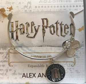 Alex Ani Harry Potter Riddikulus Charm Bangle in Shiny Silver Finish New