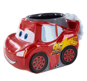 Disney Parks Cars Lightning Mcqueen Sculptured Ceramic Mug New