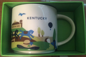 Starbucks You Are Here Kentucky Ceramic Coffee Mug New with Box