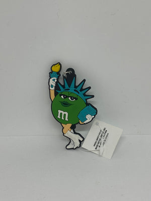 M&M's World NYC Green Liberty Keychain New with Tag