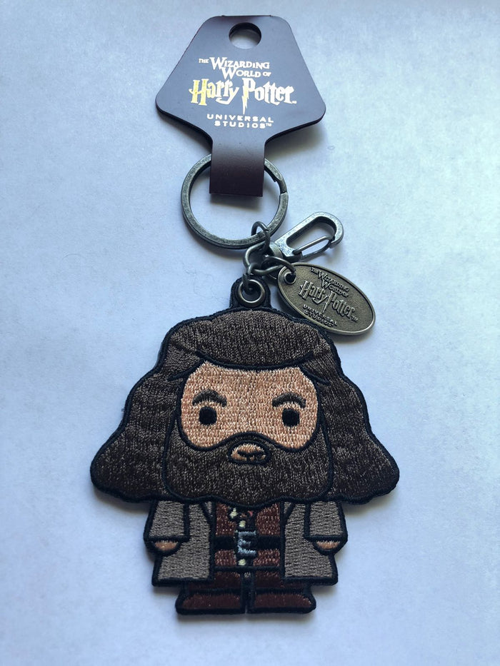 Universal Studios Wizarding World Harry Potter Rubeus Hagrid Patch Keychain New