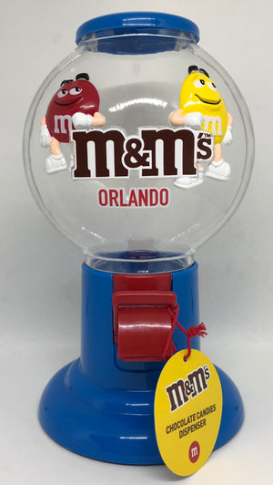 M&M's World Bubble Gum Machine Candy Dispenser Orlando New with Tags